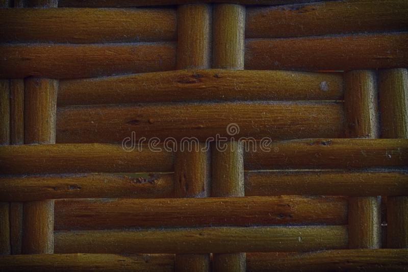 Autumn Maple painted Wooden wicker texture of basketwork for background use.  royalty free stock images