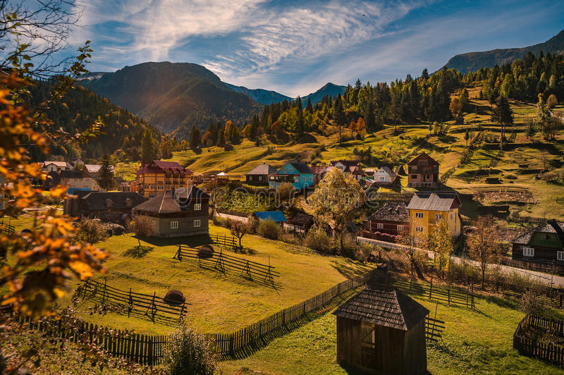 Autumn in Maramures. Autumn landscape in Maramures - Romania, from a close by road royalty free stock photo