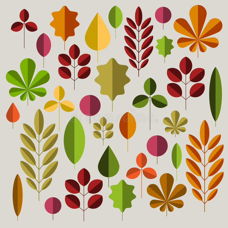 Autumn minimalist abstract floral background pattern royalty free illustration