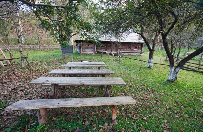 Download Autumn Misty Mountain Village Stock Image - Image: 25601289