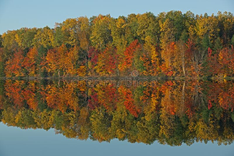 Autumn, Moccasin Lake Reflections royalty free stock image
