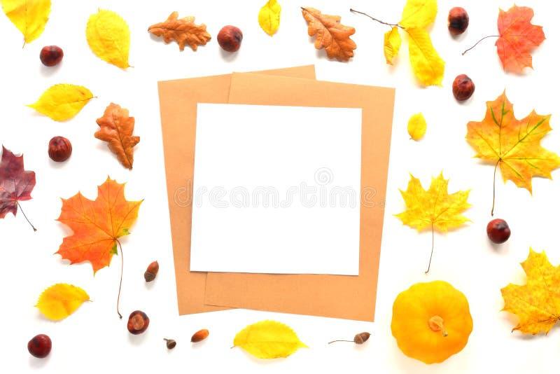 Autumn Mock Up fotos de archivo