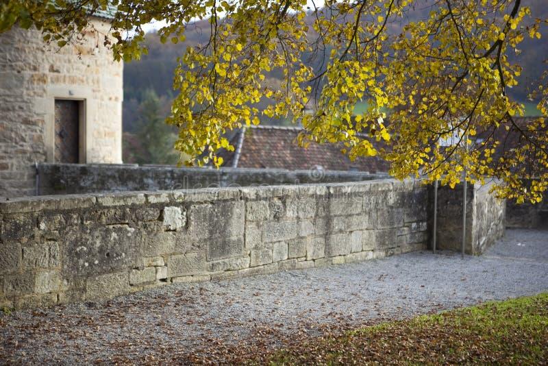 Autumn at the monastery royalty free stock photo