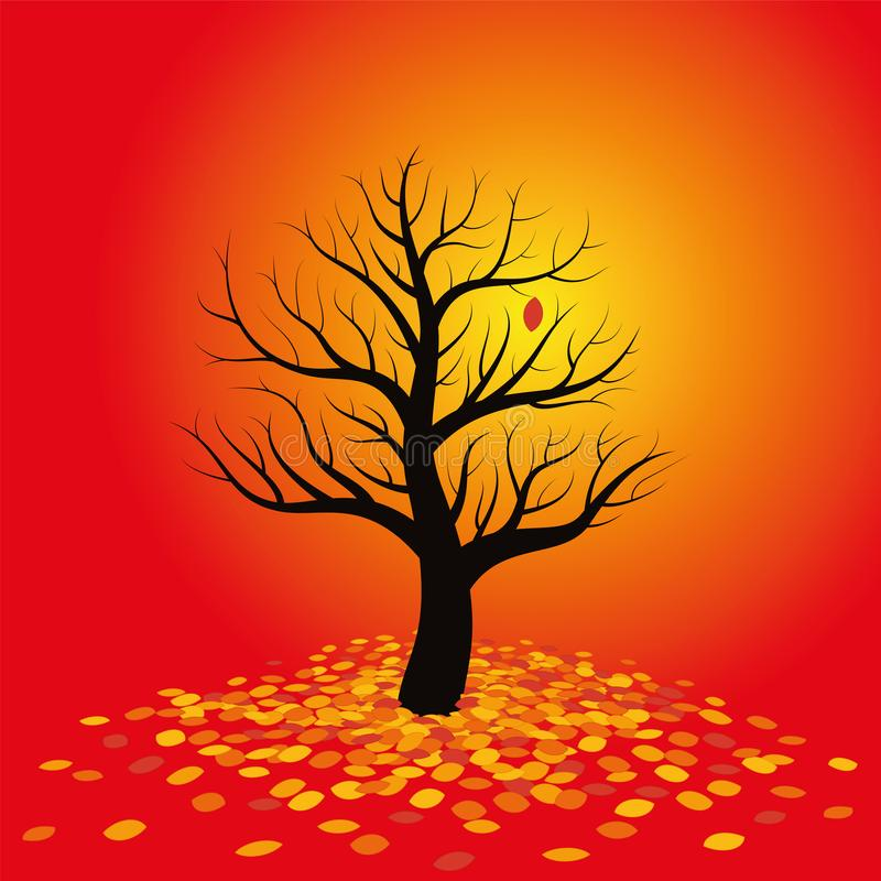 Autumn Mood Red Foliage stock illustrationer