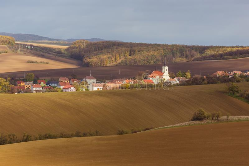 Download Autumn in Moravia stock image. Image of clouds, autumn - 107144911