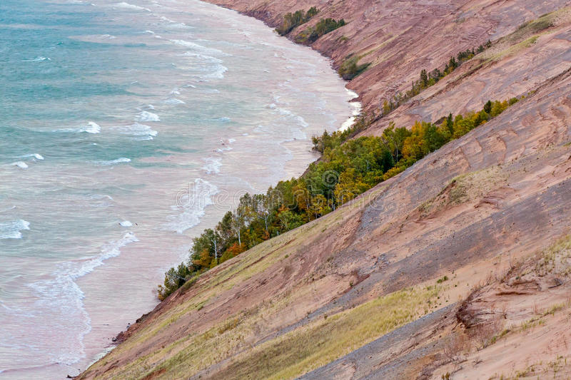 Autumn Morning at Grand Sable Dunes stock photography