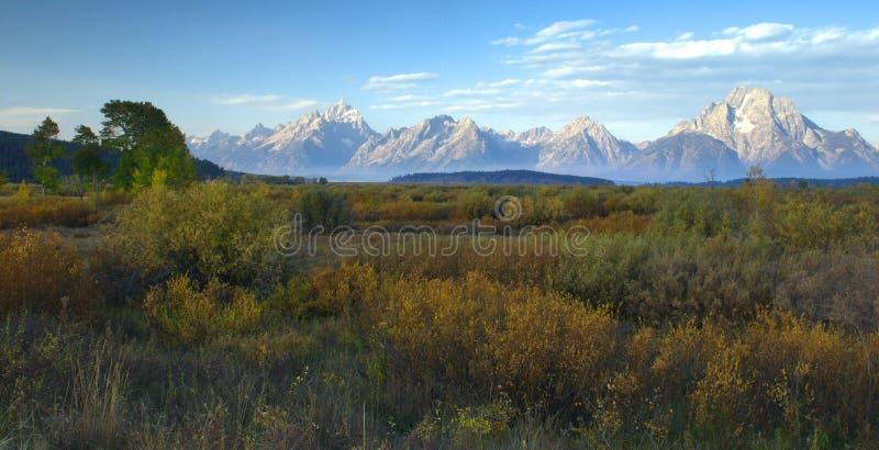 Download Autumn Morning, The Tetons stock image. Image of wyoming - 12392587