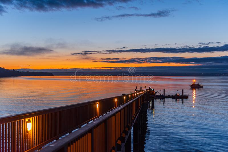 Autumn Morning In Th Pacific Northwest royalty free stock photography
