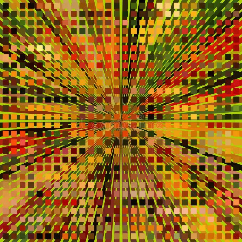 Download Autumn Mosaic. stock vector. Image of geometric, illustration - 83724818