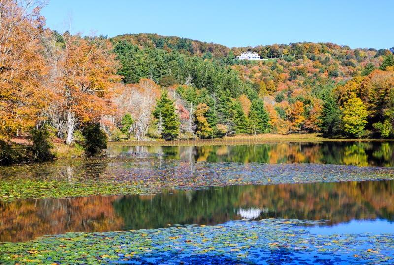 Autumn Moses Cone Memorial Park North Carolina arkivfoton