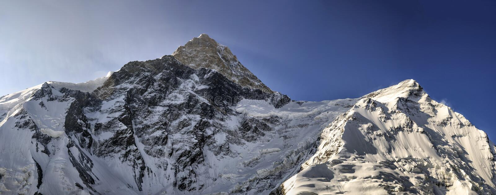 Glacier peak Khan-Tengri. Glacier peak Khan-Tengri in the mountains of Central Tien Shan royalty free stock image