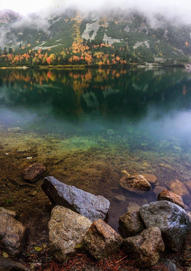 Autumn Mountain Lake stockfotografie