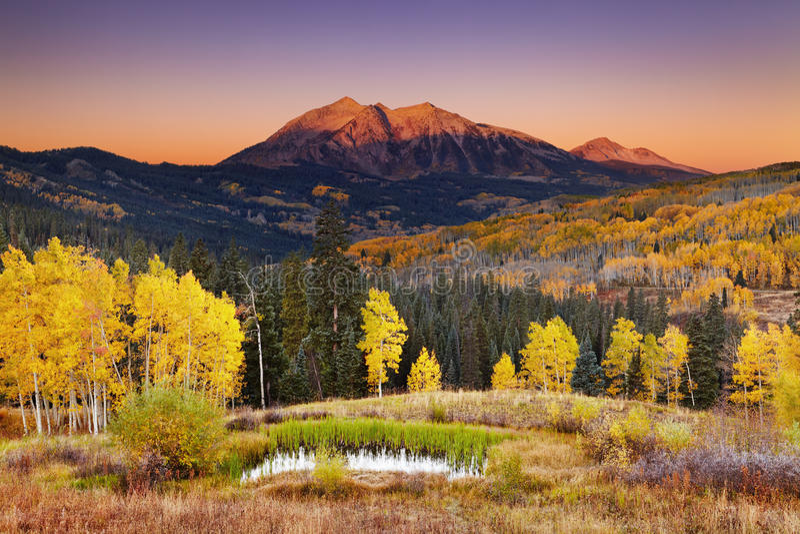Autumn mountain landscape, Colorado, USA royalty free stock image