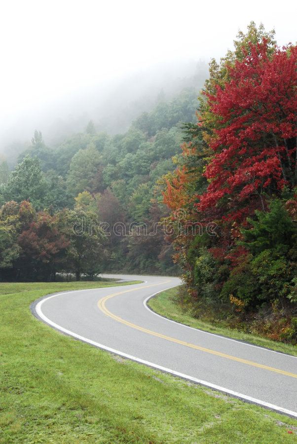 Autumn Mountain Road stock photo