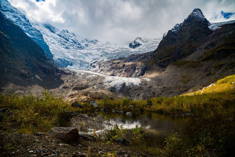 Autumn mountain valley landscape. Mountain lake in autumn. royalty free stock photo