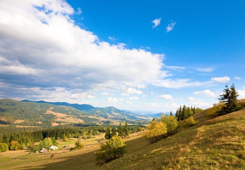 Download Autumn mountain village stock image. Image of haze, outdoor - 14968991