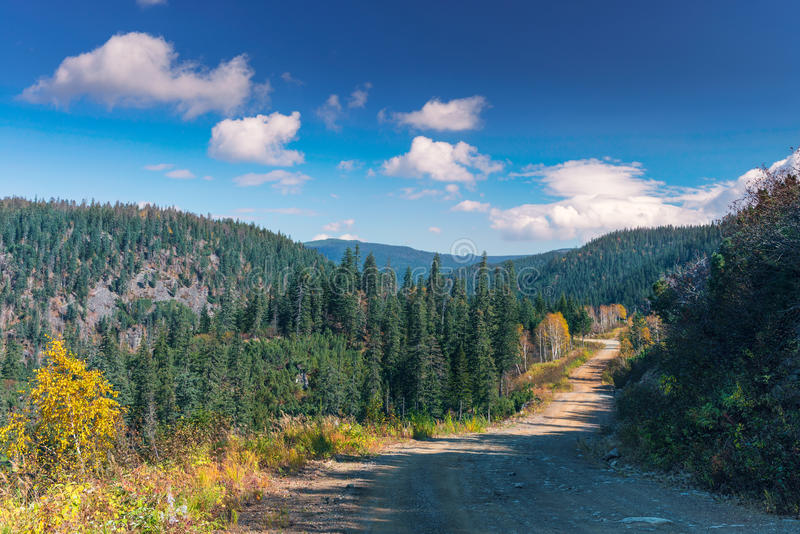 Autumn in the mountains Miao Chan. Golden September in the mountains royalty free stock photo