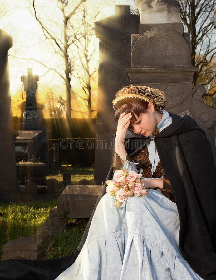 Autumn mourning royalty free stock photography