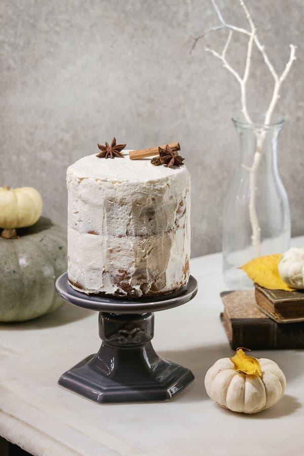 Autumn naked cake royalty free stock image