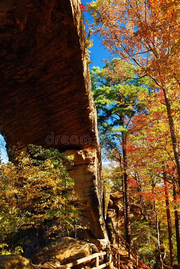 Autumn at Natural Bridges, Kentucky stock photos