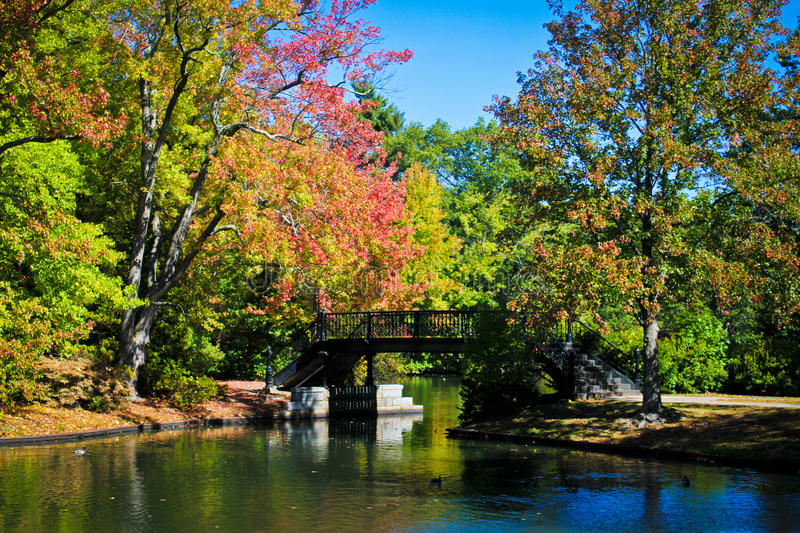 Autumn in New England. The sky is blue and the leaves are changing, this can only mean fall has hit New England royalty free stock images