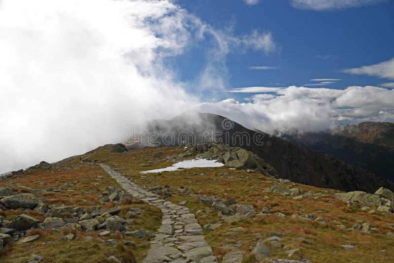 Autumn Nizke Tatry-bergen dichtbij Chopok-bergpiek in Slowakije royalty-vrije stock afbeeldingen