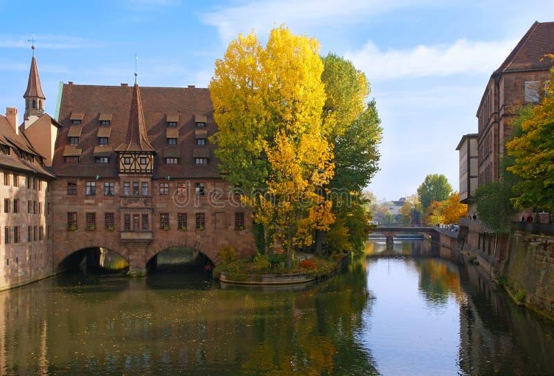 Autumn in Nuremberg stock photography