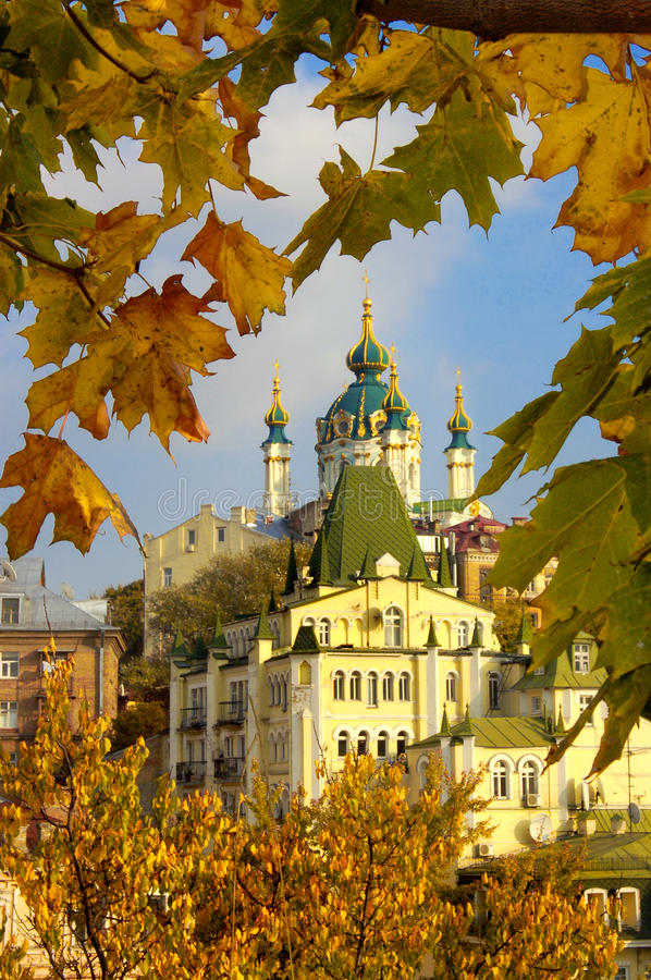 Download Autumn old Kyiv stock image. Image of buildings, blue - 14581267