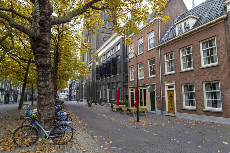 Autumn in the old town of Delft. Netherlands stock images