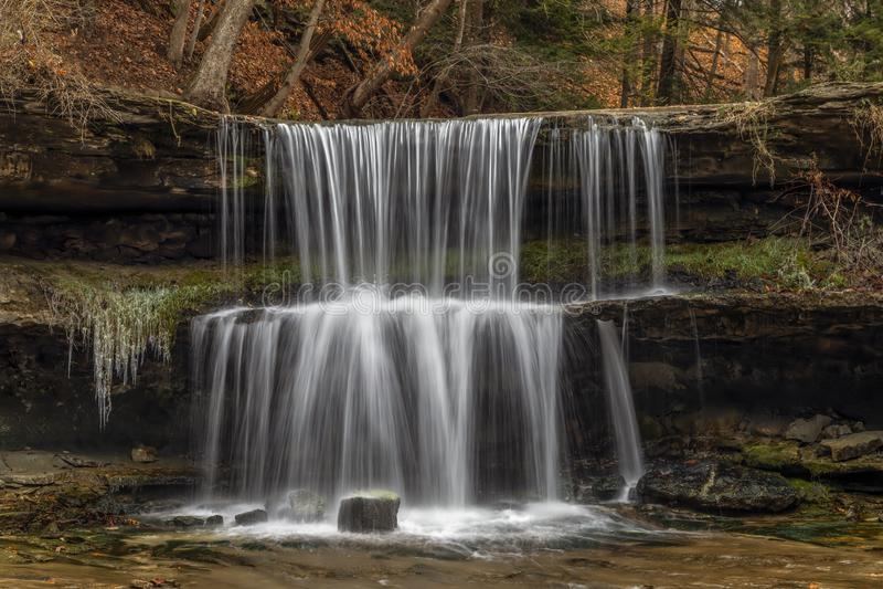 Autumn at Olglebay Falls - Wheeling, West Virginia royalty free stock images