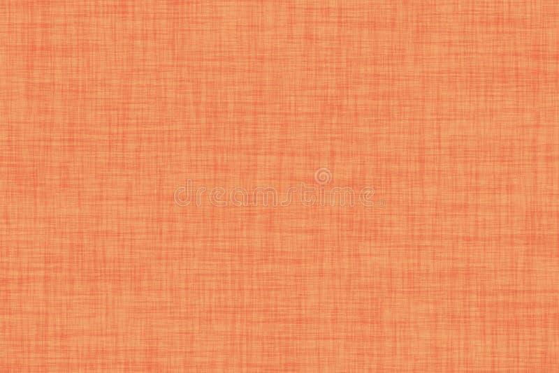 Autumn orange colored seamless linen texture background. Autumn natural orange colored seamless linen texture background royalty free illustration