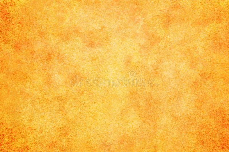 Autumn orange colored watercolor paint texture or vintage canvas background royalty free illustration