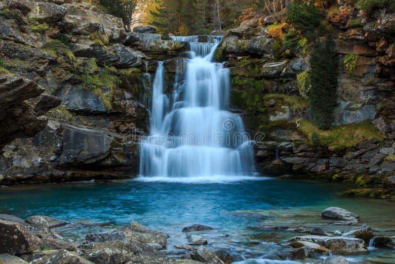The Autumn in the Ordesa Valley Ordesa National Park - Monte Perdido.  royalty free stock images