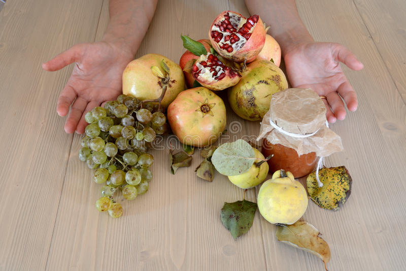 Autumn Organic fruits royalty free stock photo