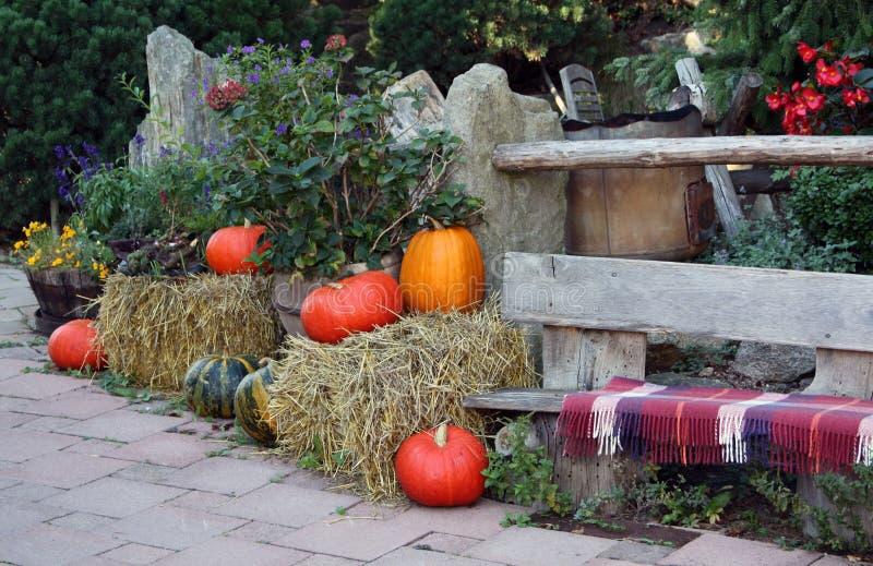 Autumn On The Ornamental Garden Terrace Stock Images