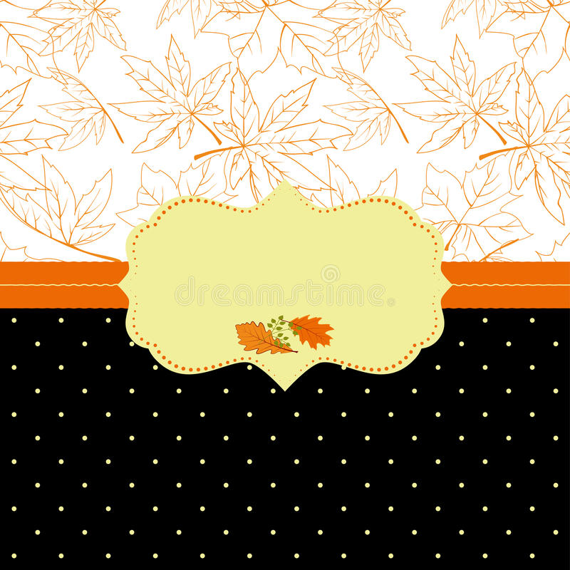 Autumn Ornate Frame Greeting Card Stock Photo