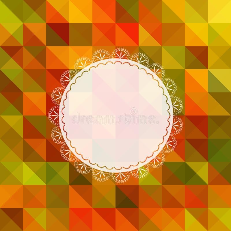 Autumn Ornate Frame Greeting Card ilustração do vetor