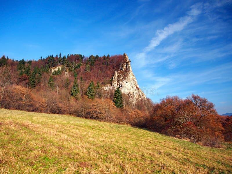 Autumn at Ostra Skala locality, Slovakia royalty free stock photography