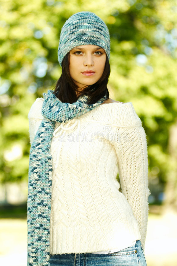 Download Autumn Outdoors 2 stock image. Image of beauty, model - 1282231