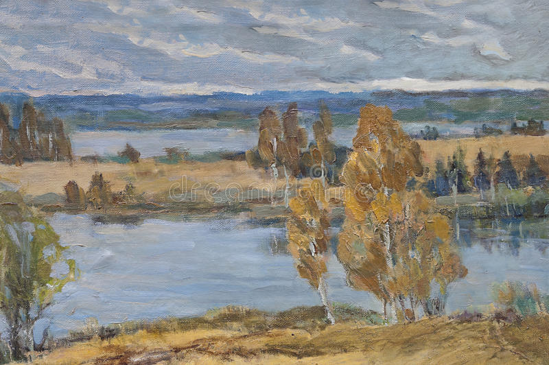 Autumn Painting atrasado ilustração royalty free