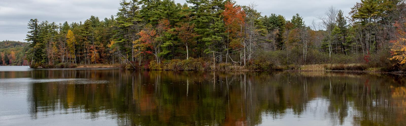 Autumn Panorama royalty-vrije stock fotografie