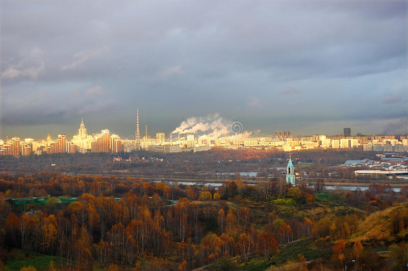 Download Autumn panorama of Moscow stock image. Image of kalte - 29300157
