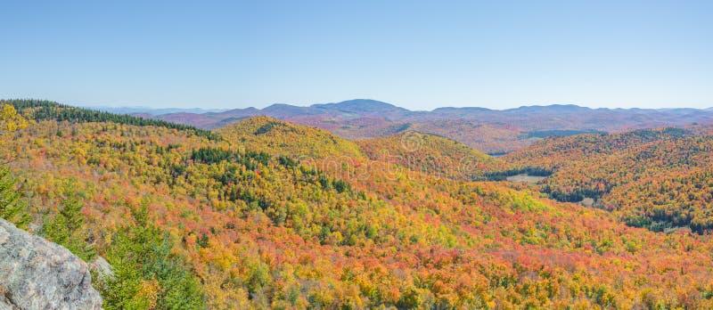 Autumn Panoramic View Of The Adirondacks royalty-vrije stock afbeelding