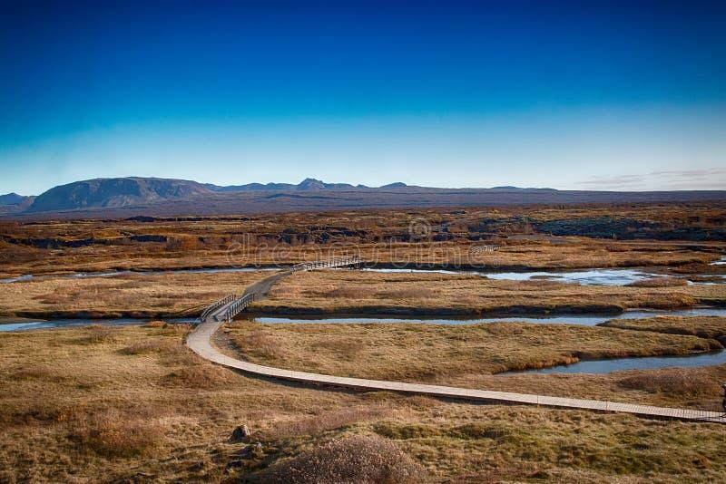 Panorama at Thingvellir national park royalty free stock photography