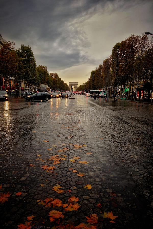 Autumn in Paris royalty free stock images