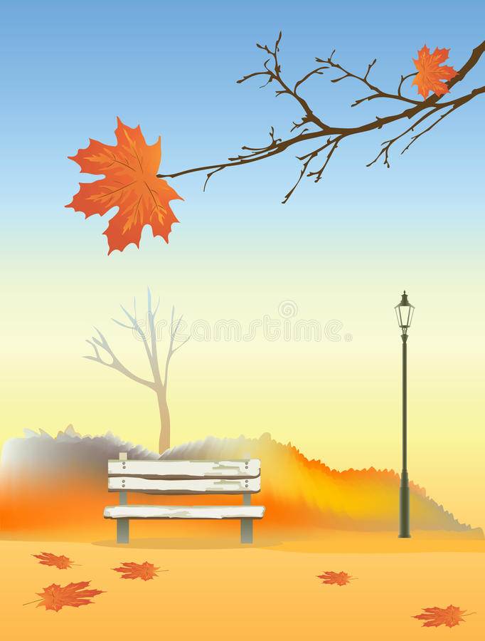 Autumn park royalty free illustration