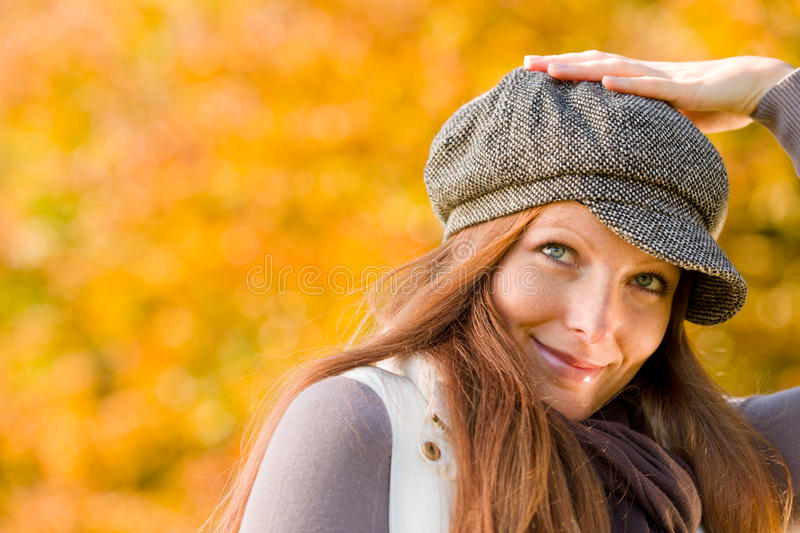 Download Autumn Park - Long Red Hair Woman Fashion Stock Image - Image: 16807365