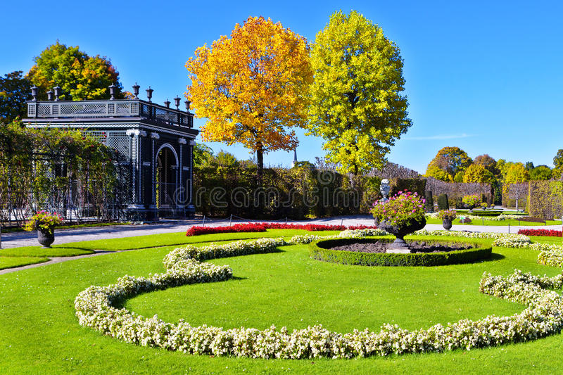 Autumn park in Vienna royalty free stock images