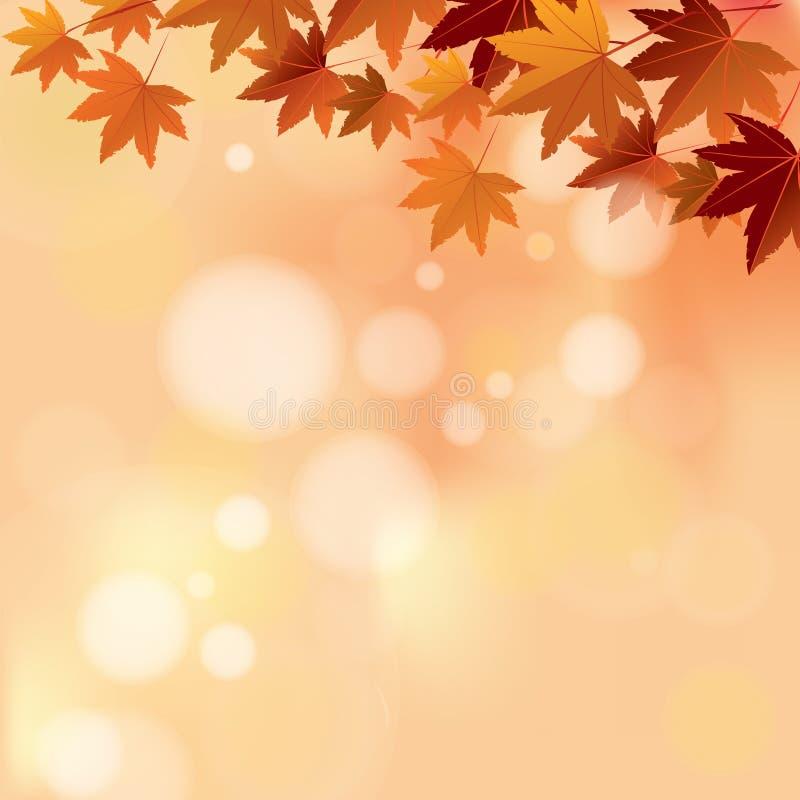 Autumn Pastel Color Bokeh Background royaltyfri illustrationer
