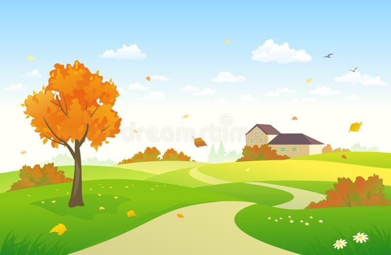 Autumn Pathway illustration libre de droits
